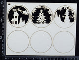 Artist Trading Coin Set - GD - White Chipboard