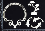 Asia Elements and Frame Set - C - White Chipboard