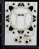 Asia Elements and Frame Set - F - White Chipboard