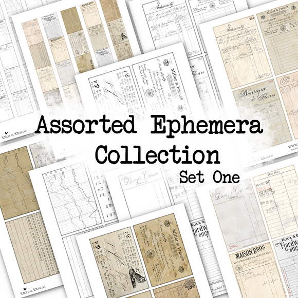 Assorted Ephemera Collection - Set One - DI-10116 - Digital Download
