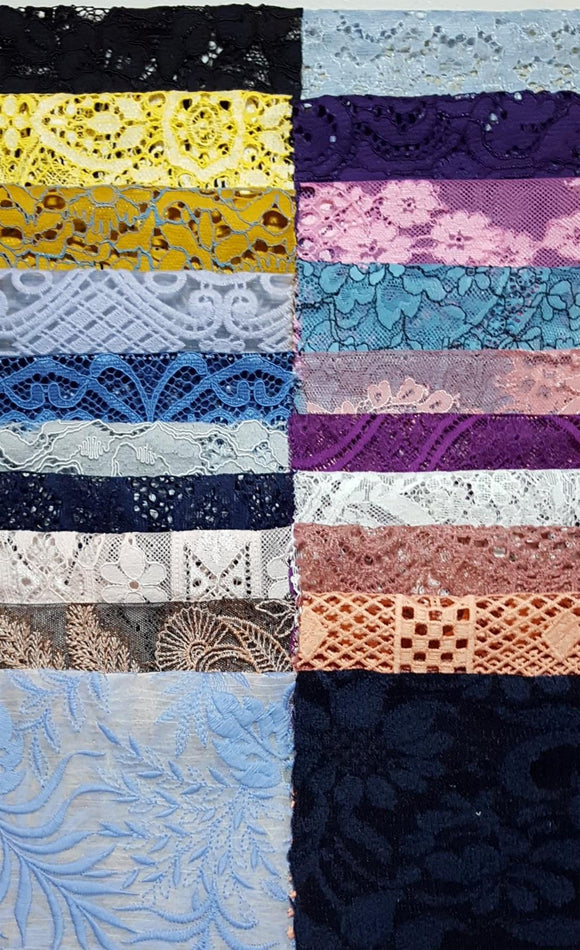 Assorted Lace Pack - Mixed Colours