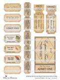 Assorted Tickets - Set One - DI-10037 - Digital Download