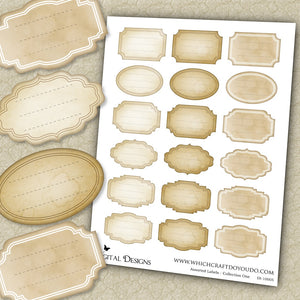 FREEBIE - Assorted Labels - Collection One - DI-10005 - Digital Download