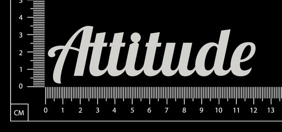 Attitude - White Chipboard
