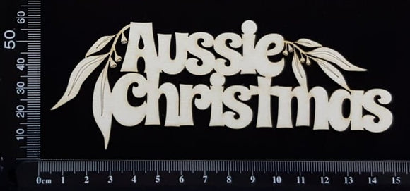 Aussie Christmas - White Chipboard