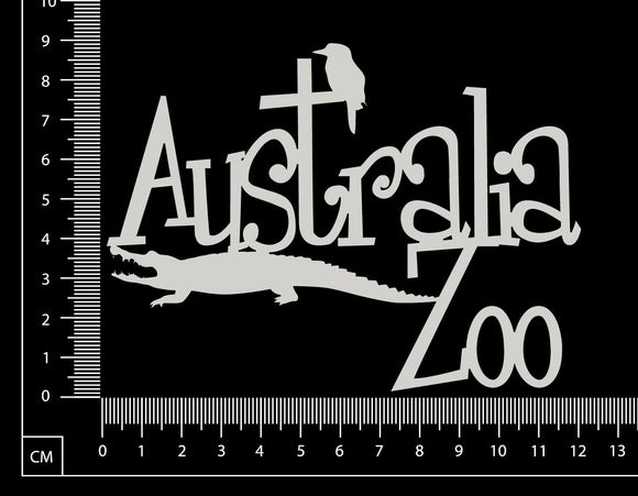 Australia Zoo - White Chipboard