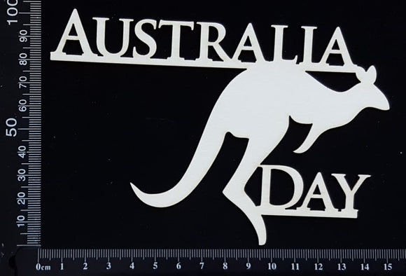 Australia Day - B - White Chipboard