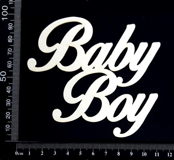 Baby Boy - AA - Large - White Chipboard