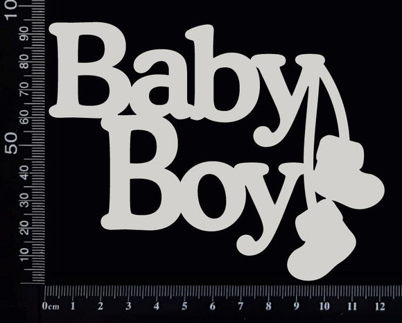 Baby Boy - CA - Large - White Chipboard