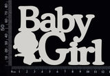 Baby Girl - BA - Large - White Chipboard
