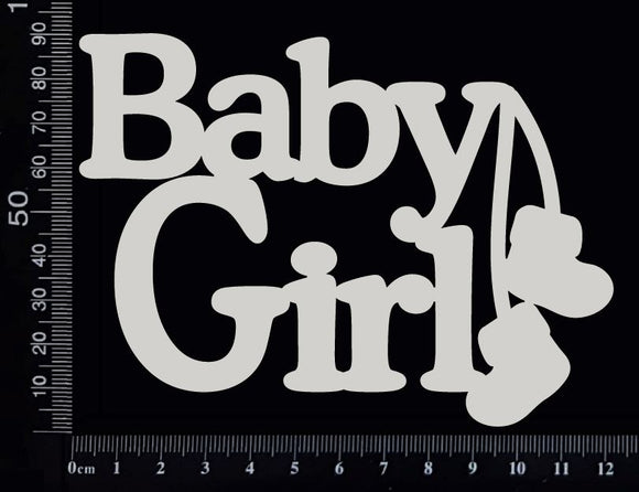 Baby Girl - CA - Large - White Chipboard