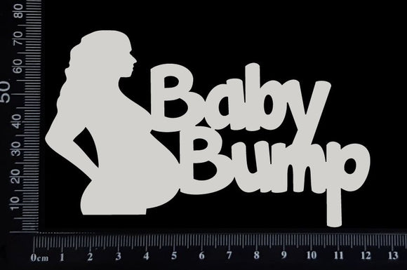 Baby Bump - White Chipboard
