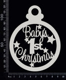Baby's 1st Christmas Bauble - White Chipboard