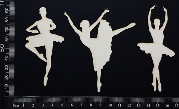Ballerina Set - A - White Chipboard