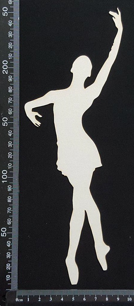 Ballet Dancer - C - Large - White Chipboard