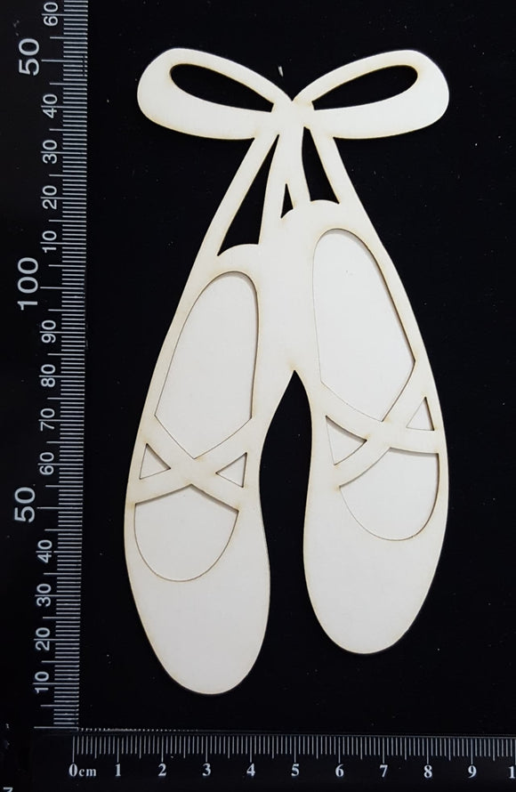 Ballet Slippers - B - Large - Layering Set - White Chipboard