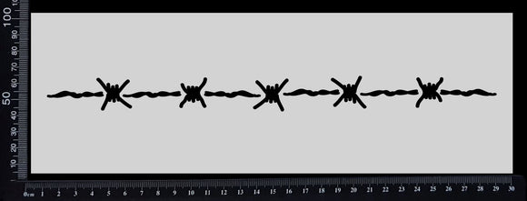 Barbed Wire Border - Stencil - 100mm x 300mm