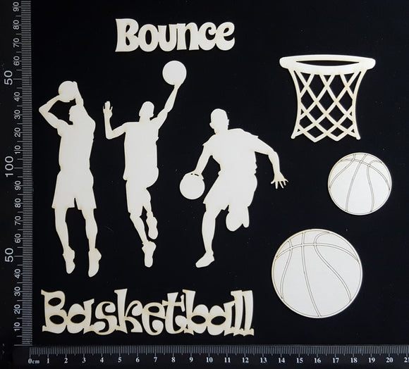 Basketball Set - White Chipboard