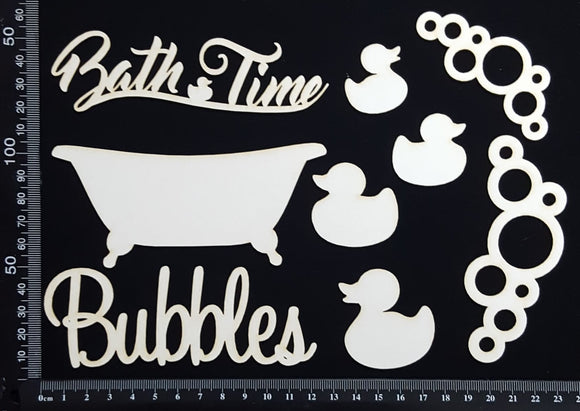 Bath Time Elements - White Chipboard