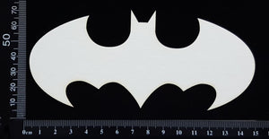 Batman Symbol - White Chipboard