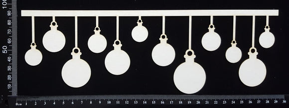 Bauble Border - A - Large - White Chipboard