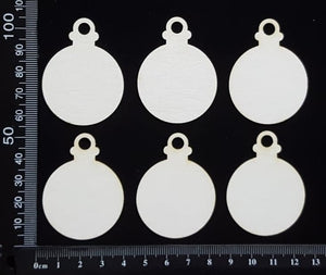 Baubles Set - E - White Chipboard