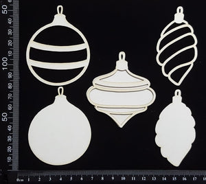 Baubles Set - F - Layering Set - White Chipboard