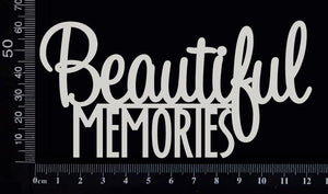 Beautiful Memories - White Chipboard