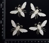 Bees Set - White Chipboard