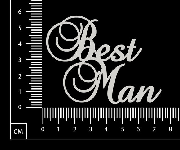 Best Man - White Chipboard