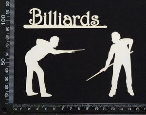 Billiards Set - White Chipboard