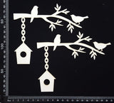 Birdhouse Corner Set - White Chipboard
