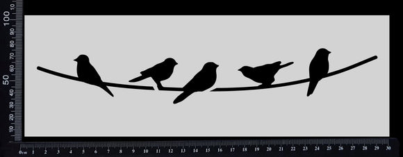 Birds on a Wire - Stencil - 100mm x 300mm
