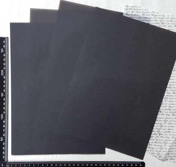 Parchment/Vellum Paper - A4 pack of 25 sheets - Black