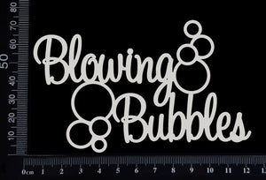 Blowing Bubbles - White Chipboard