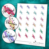 Boho Spash Words Collection - Set One - DI-10016 - Digital Download