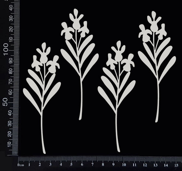 Botanical Set - AM - White Chipboard
