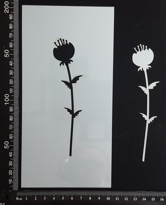 Botanical  - Stencil - 100mm x 200mm - AC-L