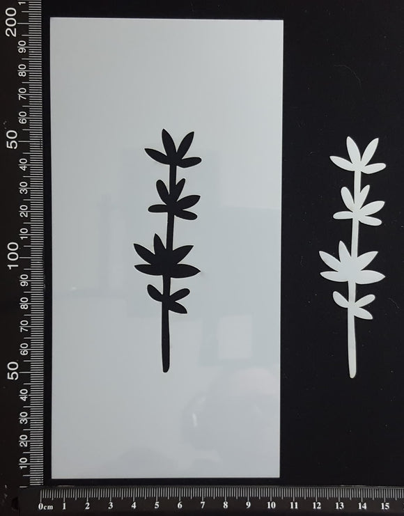 Botanical  - Stencil - 100mm x 200mm - AE-L