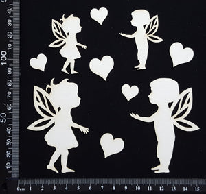 Boy and Girl Fairy Set - White Chipboard