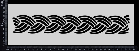 Braid Border - Stencil - 100mm x 300mm
