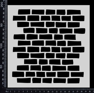 Brick Wall - A - Stencil - 200mm x 200mm