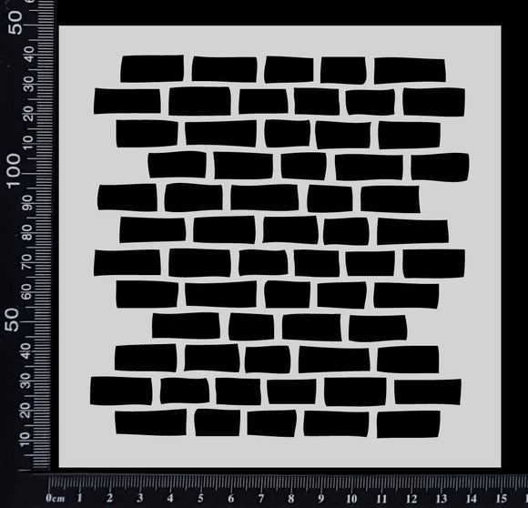 Brick Wall - A - Stencil - 150mm x 150mm