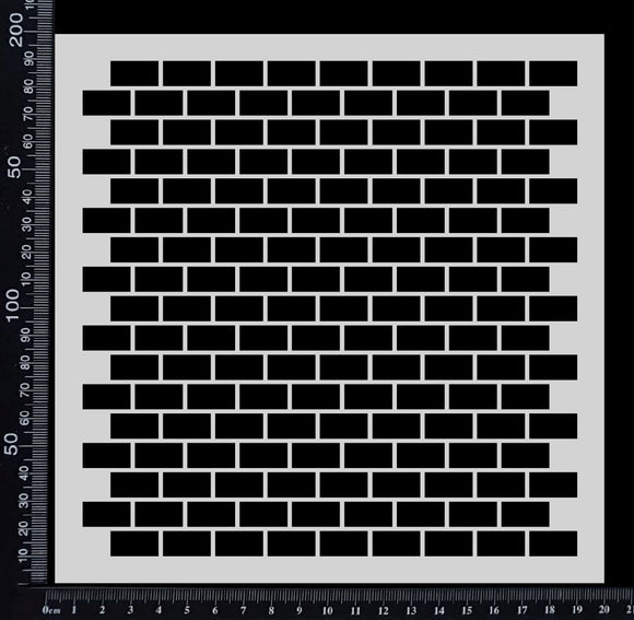 Brick Wall - B - Stencil - 200mm x 200mm
