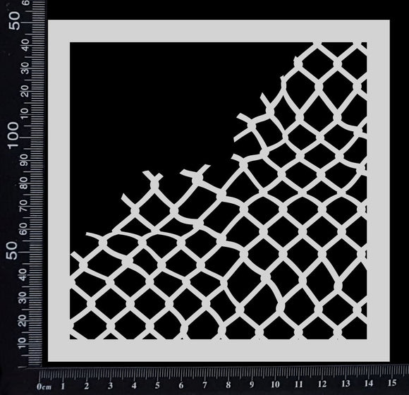 Broken Net - Stencil - 150mm x 150mm