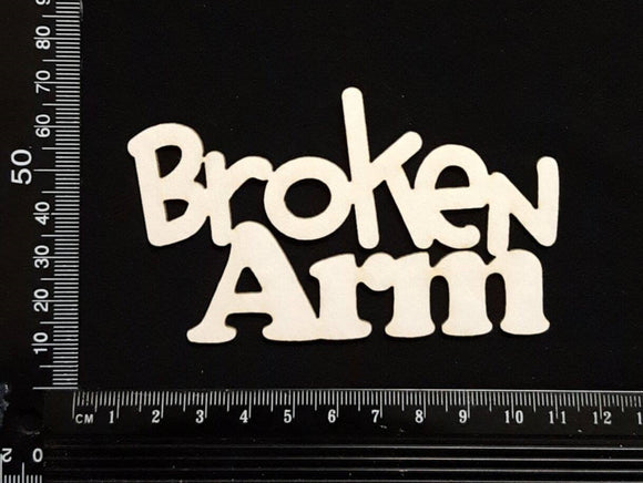 Broken Arm - White Chipboard