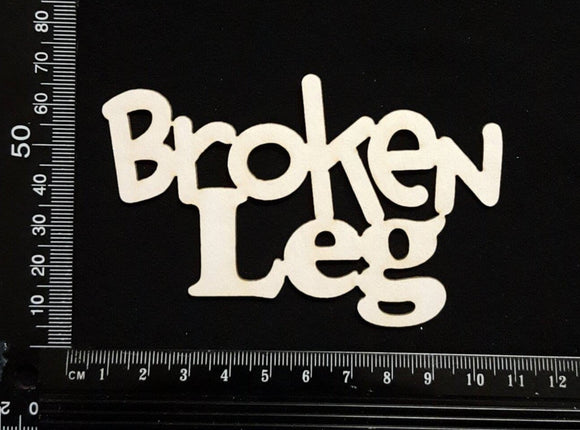 Broken Leg - White Chipboard
