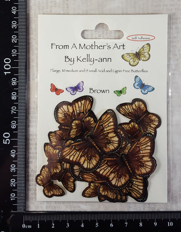 Butterfly Stickers - Brown