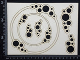 Bubble Frames Set - White Chipboard