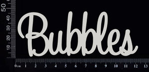 Bubbles - White Chipboard
